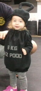 Does it get any cuter?! This is one of my best pal's little girl dressed up for Halloween... what else would she be but a kettlebell?!