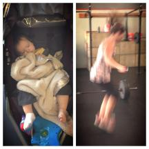 Honest to goodness, this is one of my dear friends getting her double-unders on while her sweet boy takes a nap! Done and done.