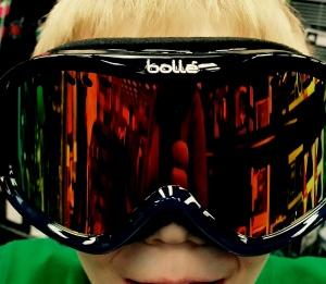 Matthew in goggles